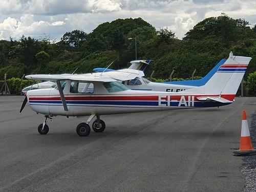 Cessna 150F EI-AII seen at Dublin Weston Executive Airport EIWT