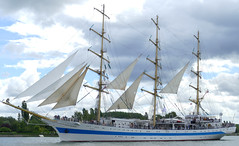 STS MIR on the last day of the Rouen Armada 2019, on the River Seine from Rouen to Le Havre ...