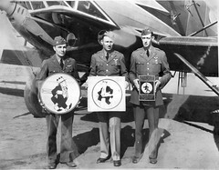 10_0027333 Personnel: USAF 11th Bomb SQD. Aviation Solders of 11th Bomb SQD. Holding logo