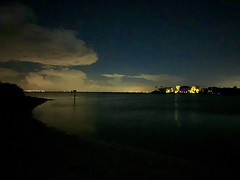 Midnight On Tampa Bay At Symphony Isles Beach  In Apollo Beach Florida - IMRAN™