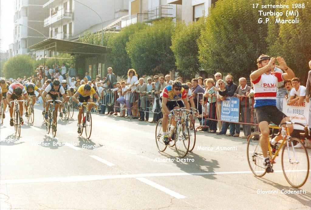 17 settembre 1988 - Turbigo, 1°Codenotti, 2° Destro, 3° Asmonti, 5° Brambilla
