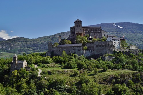 Sion - vue du château de Tourbillon 2