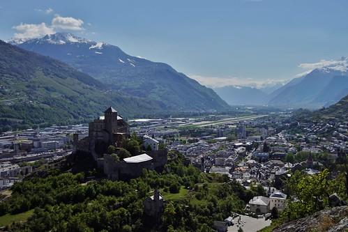 Sion  - Vue du château de Tourbillon 1
