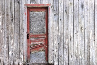I see a red door and I want to paint it black.