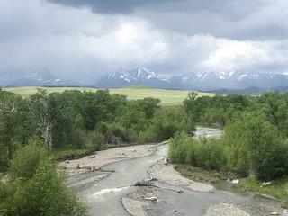 Crazy Mountains & Big Timber Creek. Montana