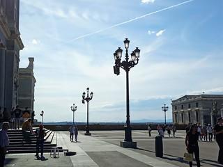 El cielo, un puente aéreo. Madrid.
