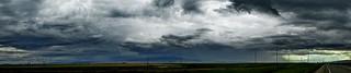 Montana - Stanford view east - A god level rainstorm cloud