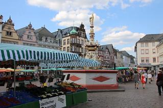 Am Hauptmarkt in Trier