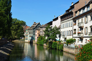 Half-Timbered Houses On A Canal [Strasbourg - 14 August 2016]