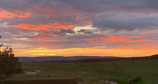 Late evening sunset near Inverness, Scotland
