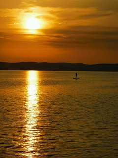 Balaton sunset & sup