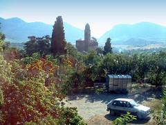 France, la Corse, église d'un petit village intérieur