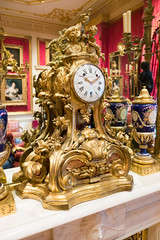 Gilded mantle clock
