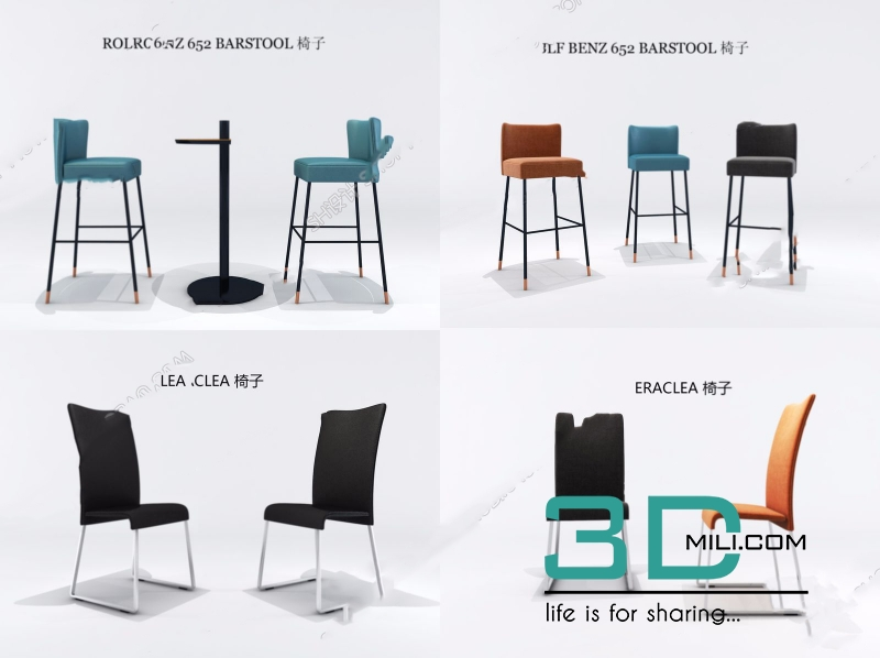 597  Chair 3D Models Free Download - 3D Mili - Download 3D