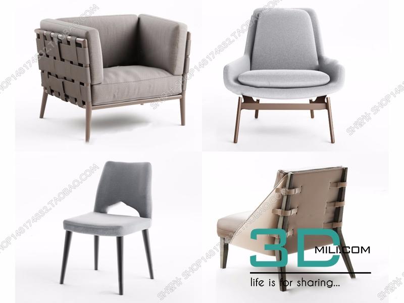 638  Chair 3D Models Free Download - 3D Mili - Download 3D