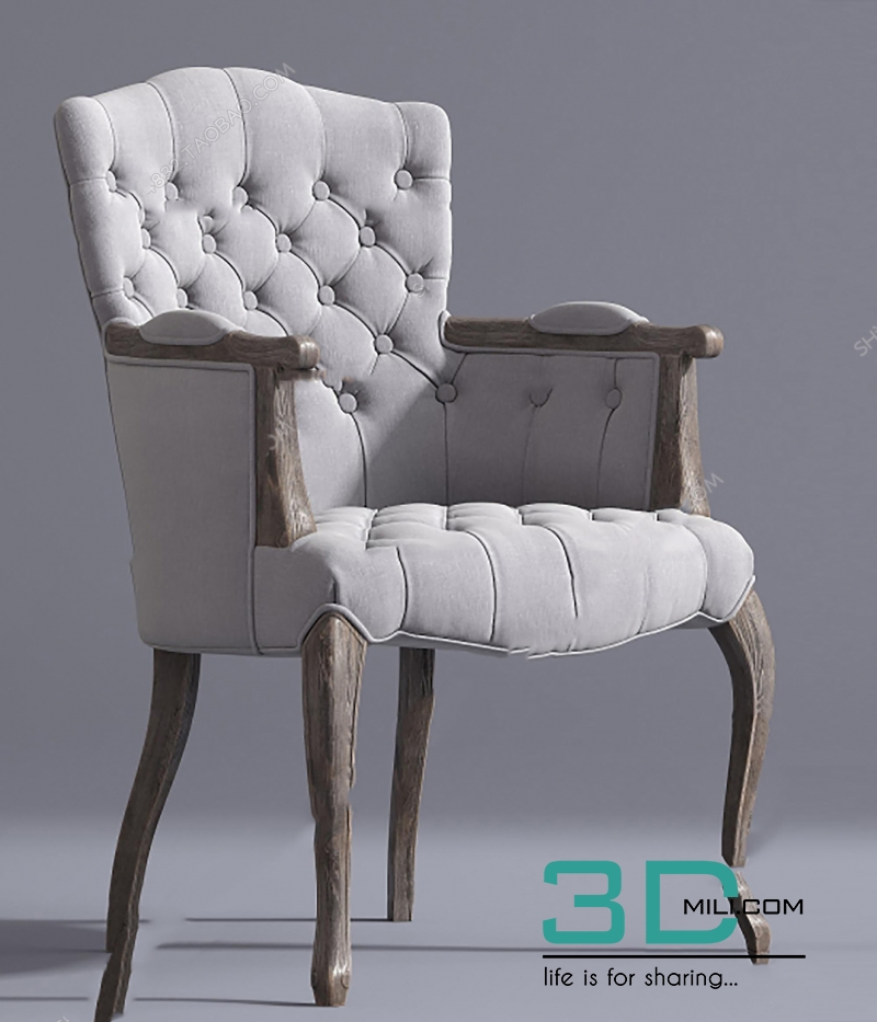 Carved Wood Armchairs Free 3D Models - Devtools