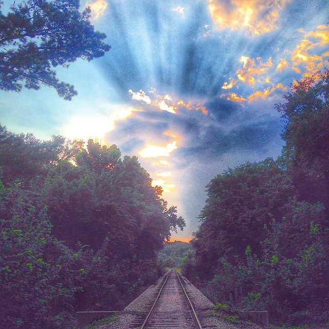 Historically the railroad was essential for the growth and livelyhood of many Texans. This lovely shot was taken near Palestine, Texas. Dana Goolsby with MYETX.com.