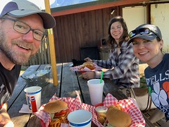 Post climb burgers!