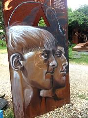 Neil Harbisson - Moon Ribas - painted portrait