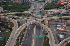 I-410 and US281 Interchange Stack Aerial