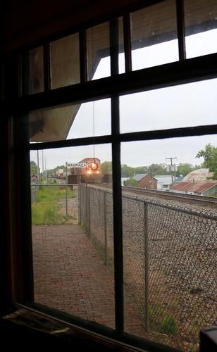CN 5606, Dispatcher Window, Waupaca Depot, 15 Jun 19