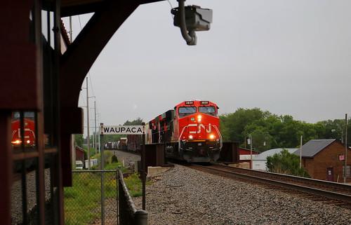 CN 3830, Waupaca Depot, 15 Jun 19
