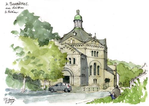 Plombières, église,1934