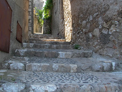 Rue du Haut Four Stairway - Photo of Villeneuve-Loubet