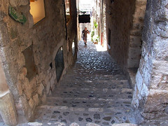 Looking Down Rue du Casse Cou Stairs
