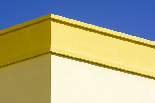 Building with a yellow edge