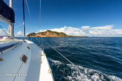 Sailing yacht near Phi Phi islands in our trip from Thailand to Malaysia. Islands, sails, blue water, and full relax        XOKA8452bs2