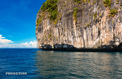 Sailing yacht near Phi Phi islands in our trip from Thailand to Malaysia. Islands, sails, blue water, and full relax        XOKA8395s