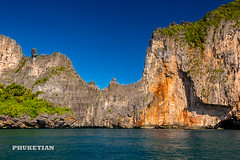 Sailing yacht near Phi Phi islands in our trip from Thailand to Malaysia. Islands, sails, blue water, and full relax        XOKA8439b-NWs