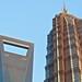 Two giants: Modern Shanghai financial skyscrapers Jin Mao tower - China