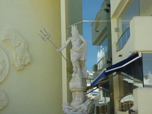 Statuary within the Marina