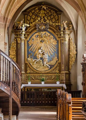 Autel de saint Jean-Baptiste de l'église des Jésuites
