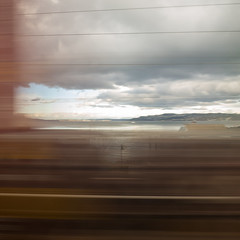 glimpsed from a moving train