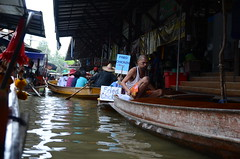 Vendors and tourist boats jostling for space