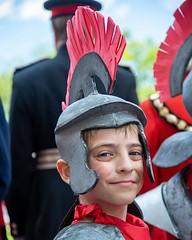 Happy birthday to our little centurion! #albanpilgrimage #staromanfestival #flickr
