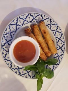 Frühlingsrollen mit Soße bei Saigon Restaurant