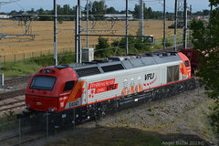 Diesel Locomotive Vossloh Euro 4000 of VFLI E4047 - Photo of Lacroix-Falgarde
