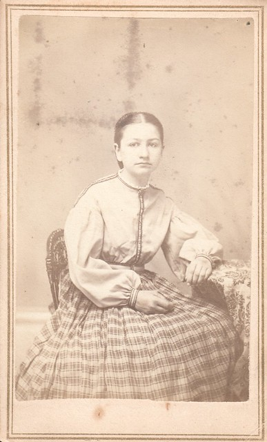 CDV_seated portrait of young Eliza Parker, Middlebury, Vermont,
