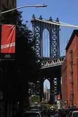 Manhattan bridge and empire state building.