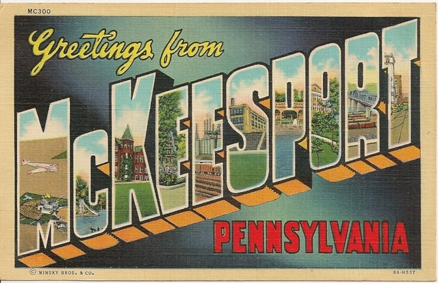 Greetings-From-McKeesport-PA-Large-Letter-Linen-Postcard