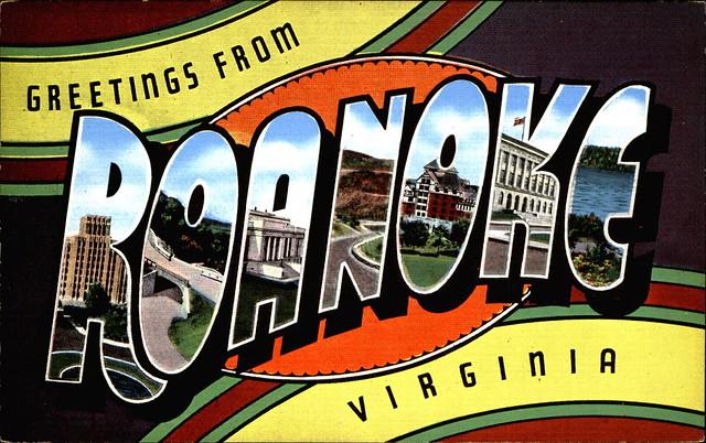Greetings-from-ROANOKE-Virginia-large-letter-linen