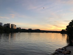 Potomac River from Georgetown Harbour, sunset, Washington, D.C.