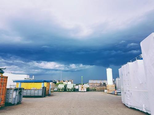 Dark clouds at work.. mobile phone shot