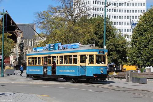 Tramway à Christchurch
