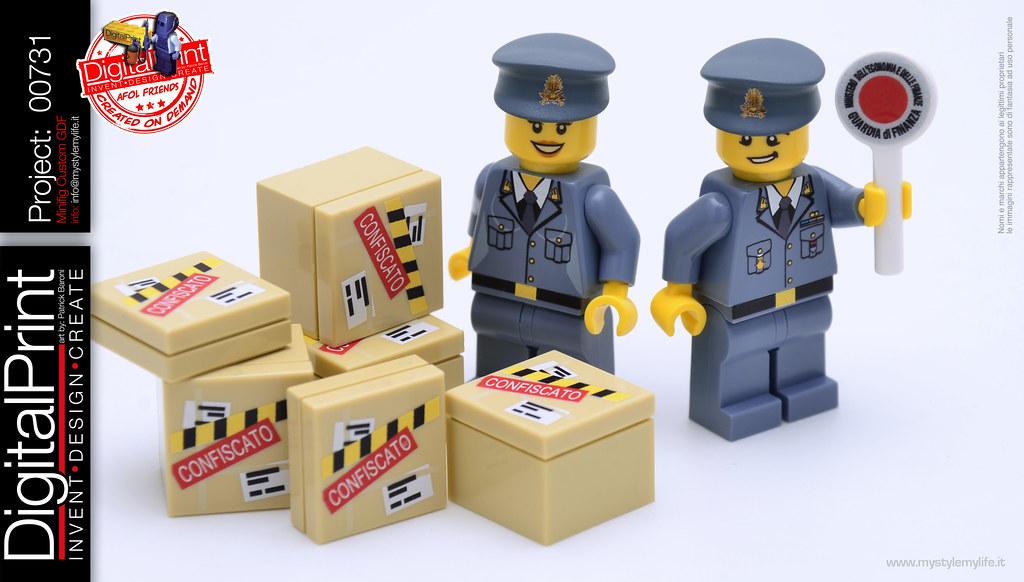 project 731 - Minifig Lego custom Guardia di Finanza