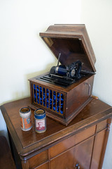 Antique cylinder record player